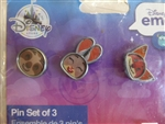 Disney Trading Pins 126280 DS - Lenticular Emoji Set of 3 - Zootopia