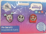 Disney Trading Pin 126281 DS - Lenticular Emoji Set of 3 - Nightmare Before Christmas
