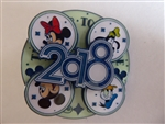 Disney Trading Pin 126425 The Year to Be Happy - 2018 - Spinner