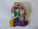 Disney Trading Pin 127056 DLP - Valentines Day 2018 - Rapunzel and Flynn Rider