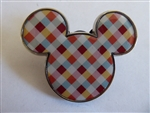 Disney Trading Pin 128119 Mickey Mouse Icon - Brown, Red, and Orange Patterned