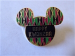 Disney Trading Pin 128523 DLR - Happy Kwanzaa Mickey Head Icon