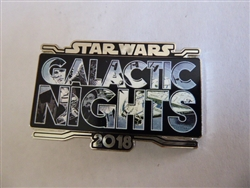 WDW - Star Wars Galactic Nights 2018 Event Pin