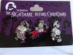 Disney Trading Pin 128849 DS- Lock, Shock, and Barrel Pin Set - The Nightmare Before Christmas