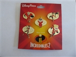 Incredibles 2 - 6 Pin Booster Set