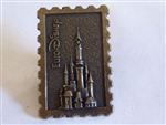 Disney Trading Pin 1293: EuroDisney Bronze Castle, Stamp Like Pin