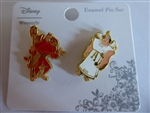 Disney Trading Pin 129479 Loungefly - Kronk Devil And Angel Set