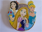 Disney Trading Pins 129605 ACME/HotArt - Golden Magic - All Stars - Snow White RAPUNZEL Cinderella