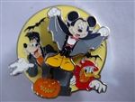 Disney Trading Pins 130224 Loungefly - Halloween - Mickey Donald and Goofy