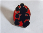 Disney Trading Pin 130717 DLR - Hidden Mickey 2018 - Red Silhouette - Mickey Walking