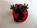 Disney Trading Pin 130720 DLR - Hidden Mickey 2018 - Red Silhouette - Mickey Jumping