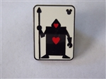 Disney Trading Pins 131176 WDW - Hidden Mickey - 2018 - Alice Card Silhouette - Hearts Guard