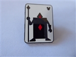 Disney Trading Pin 131177 WDW - Hidden Mickey - 2018 - Alice Card Silhouette - Diamonds Guard