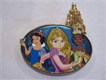 Disney Trading Pin 131531 ACME/HotArt - Kingdom Castles - Snow White, Rapunzel and Tiana - Surprise Release