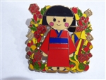 Disney Trading Pin 131561 DLR - Holiday 2018 - Small World Mystery - Chinese Girl