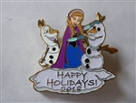 Disney Trading Pin  131637 Happy Holidays! 2018 - Anna and Olaf
