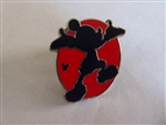Disney Trading Pins 131719 DLR - Hidden Mickey 2018 - Red Silhouette - Mickey Presenting