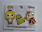 Disney Trading Pin 131805 Loungefly - Funko Pop! Alice, Hedge Hog and Queen Of Hearts