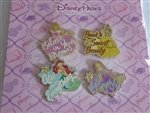 Disney Trading Pins 132477 Disney Princess with Quote Set