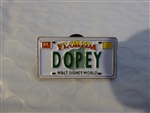 Disney Trading Pin 13542: WDW Cast Lanyard Series - Dopey License Plate