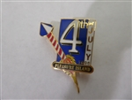 Disney Trading Pin  13624 WDW - Pleasure Island Cast 1996 July 4th