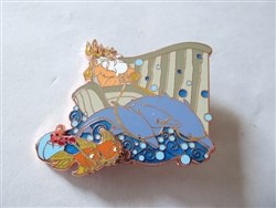 Disney Trading Pins 136498 D23 Expo 2019 - The Little Mermaid 30th Anniversary - King Triton and Sebastian