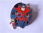 Disney Trading Pin 136676 Incredibles Family