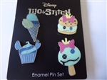 Disney Trading Pin 138579 Neon Tuesday - Stitch and Scrump Dessert set