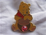 Disney Trading Pin 14415: 12 Months of Magic - Birthstone Pooh (Pink Tourmaline/October)
