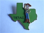 Disney Trading Pin 14957 State Character Pins (Texas/Woody)