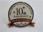 Disney Trading Pins 15487 Walt Disney Classics Collection ( WDCC ) 10th Anniversary