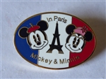 Disney Trading Pin  16423 Japan Disney Store - Mickey & Minnie In Paris (Oval)