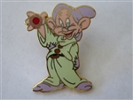 Disney Trading Pin 1704 Dopey with Red Jewel