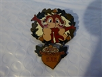 Disney Trading Pin 17576 DLR - Happy Thanksgiving 2002 (Chip & Dale) Dangle