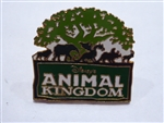 Disney Trading Pins Animal Kingdom 5-Animal Logo - Green/White