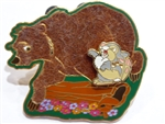 Disney Trading Pins 17752 DLR - California History Series #10 (The Grizzly) 3D/Flocked