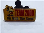 Disney Trading Pin 1789 DS - Team 2000 - On With the Show! (Mickey Mouse)