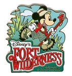 Disney Trading Pins 17946: WDW - Fort Wilderness Resort with Hiking Mickey