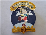 Disney Trading Pin  1795 DLR - Pinocchio 60th Anniversary Production Sample