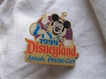 Disney Trading Pins 185: DLR - 1999 Annual Passholder Renewal Incentive (Mickey Mouse)