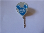 Disney Trading Pin 1851 DLR - 45th Anniversary Balloon Series (Blue)