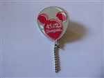 Disney Trading Pin 1854 DLR - 45th Anniversary Balloon Series (Red)
