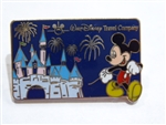 Disney Trading Pin Walt Disney Travel Company 2003 Pin - Mickey & Sleeping Beauty's Castle