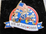 Disney Trading Pin 2060: WDW LE 4th of July 2000 Fife and Drum