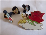 Disney Trading Pin 2141 DLR - 45th Anniversary Parade of Stars (Belle Float) 4 Pin Set
