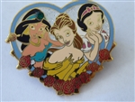 Disney Trading Pin 24027 M&P - Jasmine, Belle, and Snow White Princess Pin