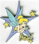 Disney Trading Pin Tinker Bell Pin Trading Lanyard Set (Tink! on the Right)