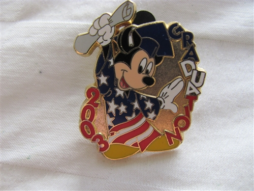 725a5c72ece Disney Trading Pin 24606 Patriotic Mickey Graduation 2003