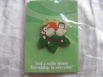 Disney Trading Pins 2527: Disneyana 2000 Small World Series -- # 9 'And a Smile Means Friendship to Everyone'
