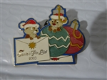 Disney Trading Pin 26982 WDW Santa's Pin List - Cast Chip and Dale Pin -NICE